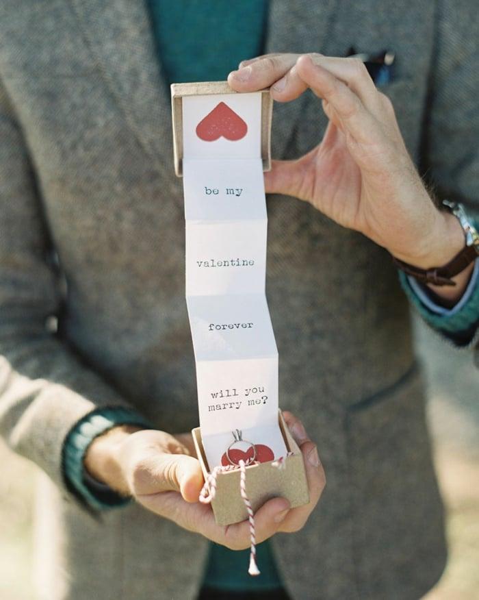 Hochzeitsantrag am Valentinstag Karte herrliche Idee