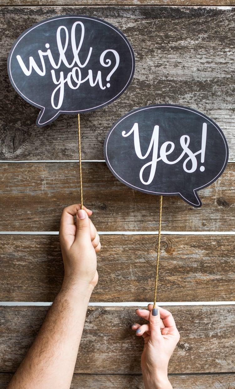 Hochzeitsantrag Tabelle originell
