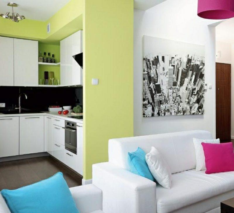 Küche streichen pastelliges Grün zart