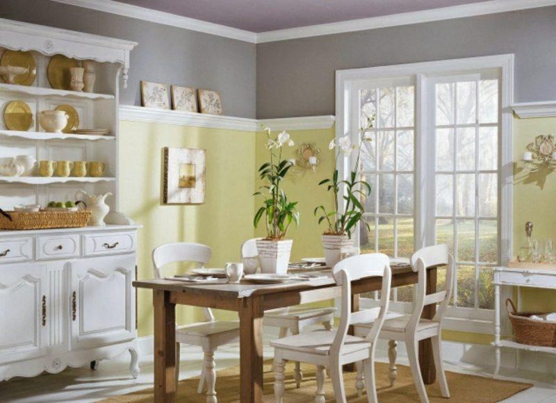 Küche streichen Grau Pastellgrün