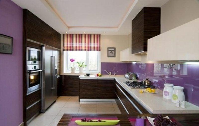 Küche streichen Dunkelviolett