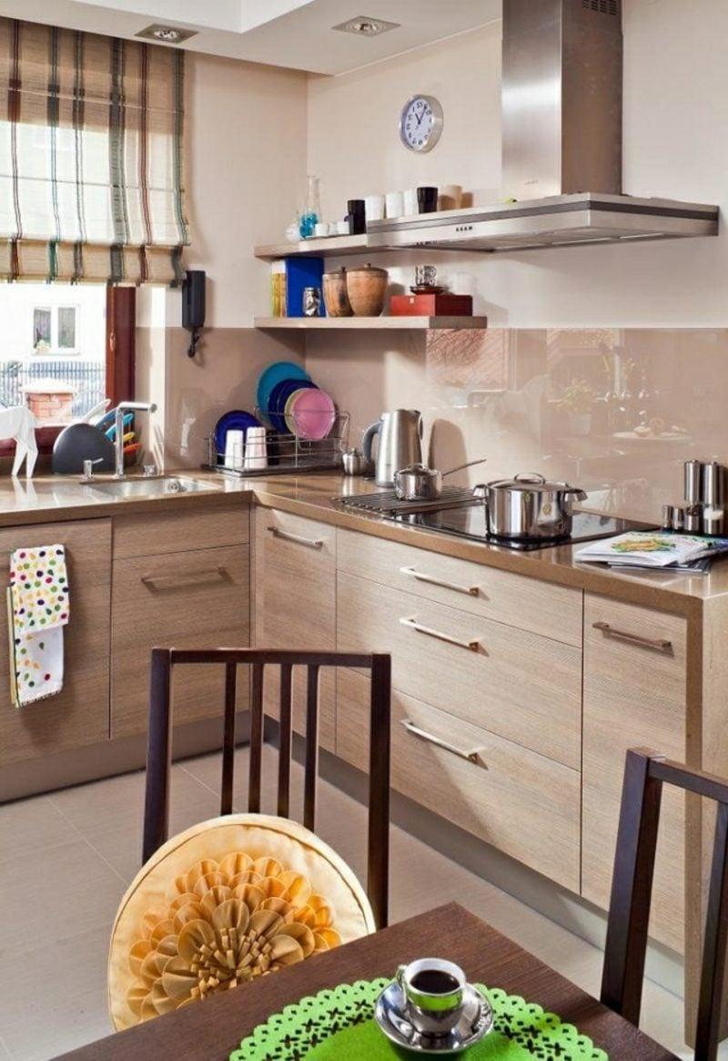 Küche streichen Hellbeige modern gemütlich