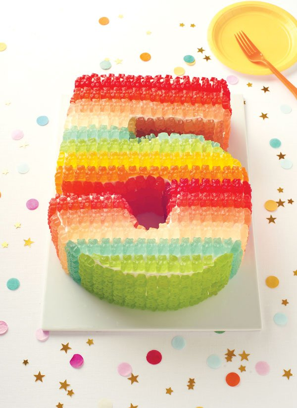 Gummibärchen Torte fünfter Geburtstag