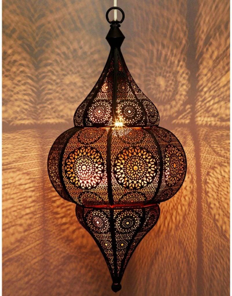orientalische Lampen Kronleuchter massiv Metall