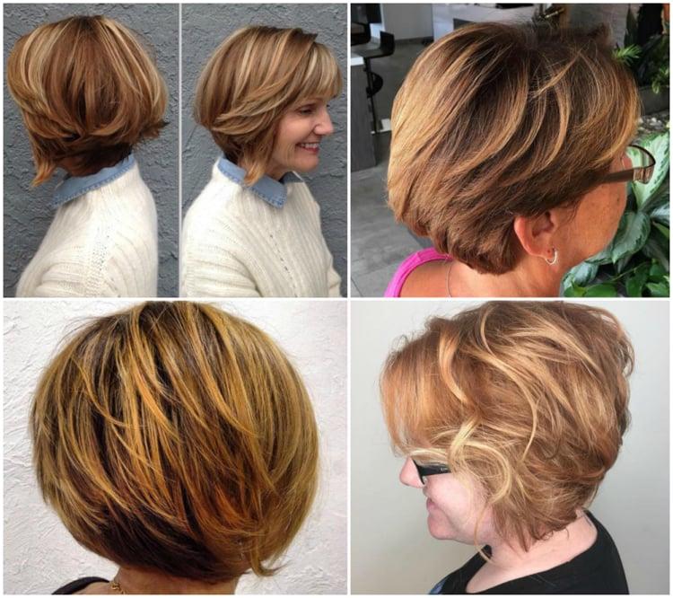 Frisuren 50 plus kurzes Haar Farbe Honigblond