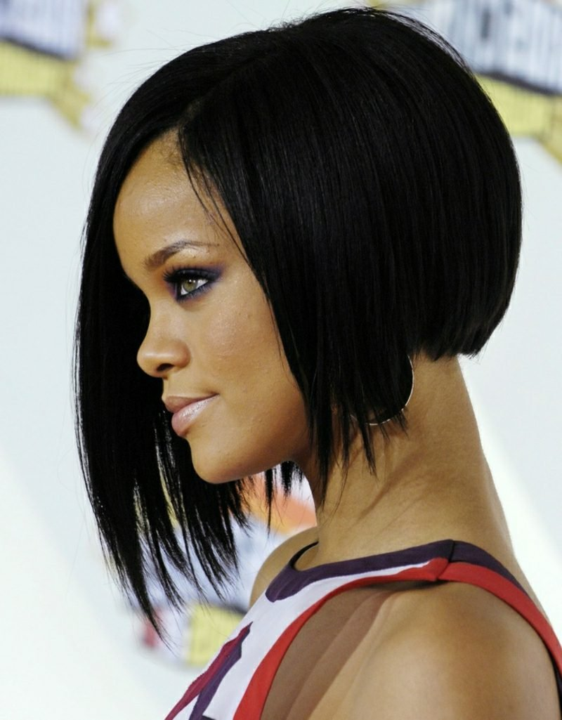 freche Kurzhaarfrisuren Bob A Linie Rihanna