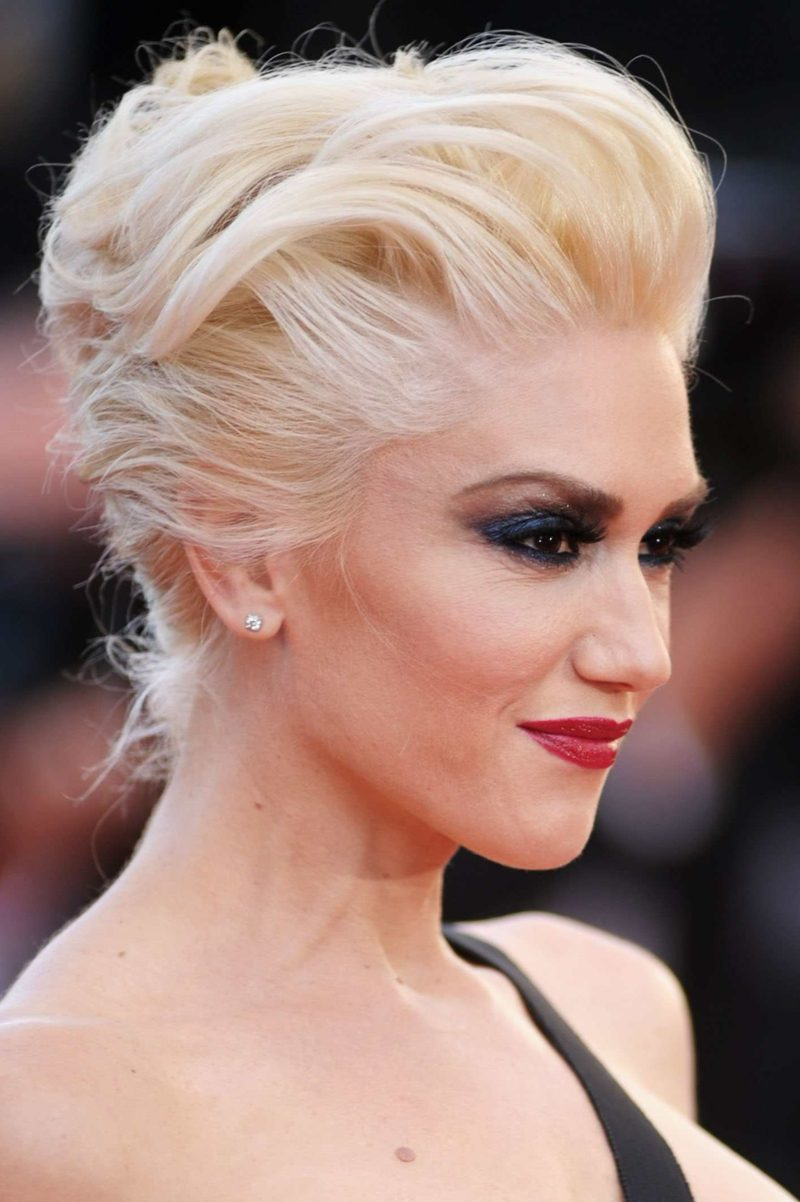 freche Kurzhaarfrisuren Pompadour Gwen Stefani