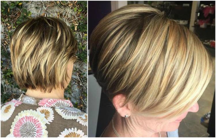 Frisuren 50 plus praktische kurze Frisur Strähnen