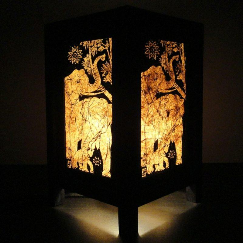 orientalische Lampen thailändisch Elefanten