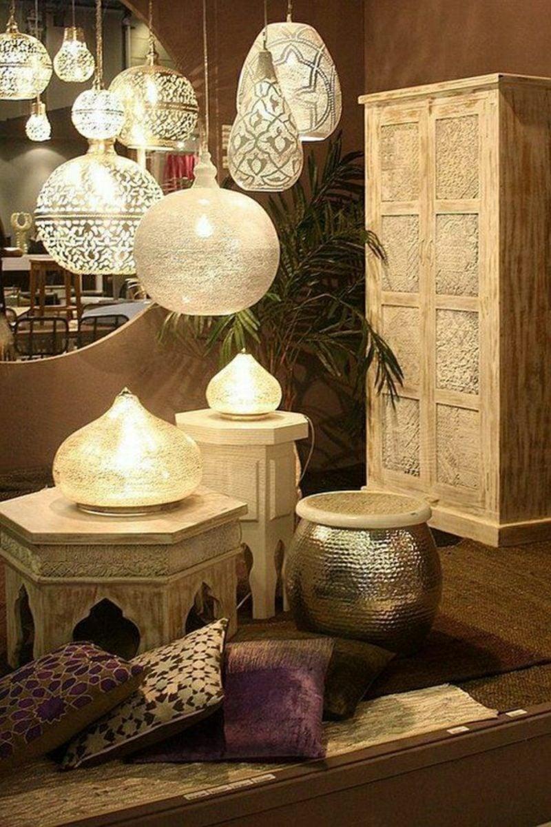 orientalische Lampen marokkanischer Stil hängend