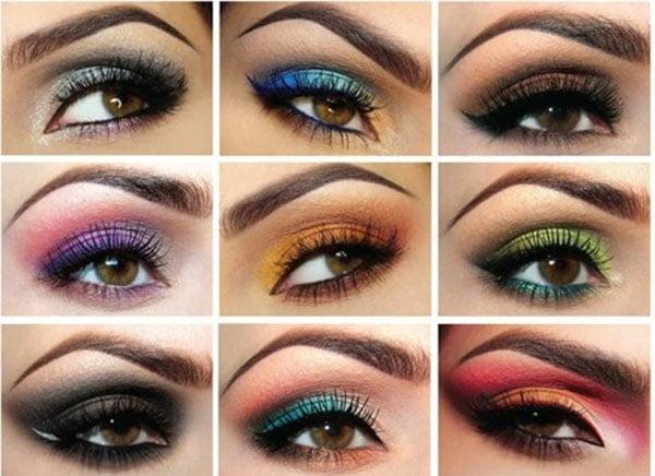 braune Augen schminken Paty Make up