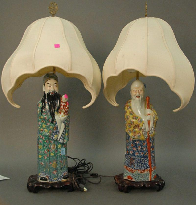 orientalische Lampen Porzellanfiguren chinesisch