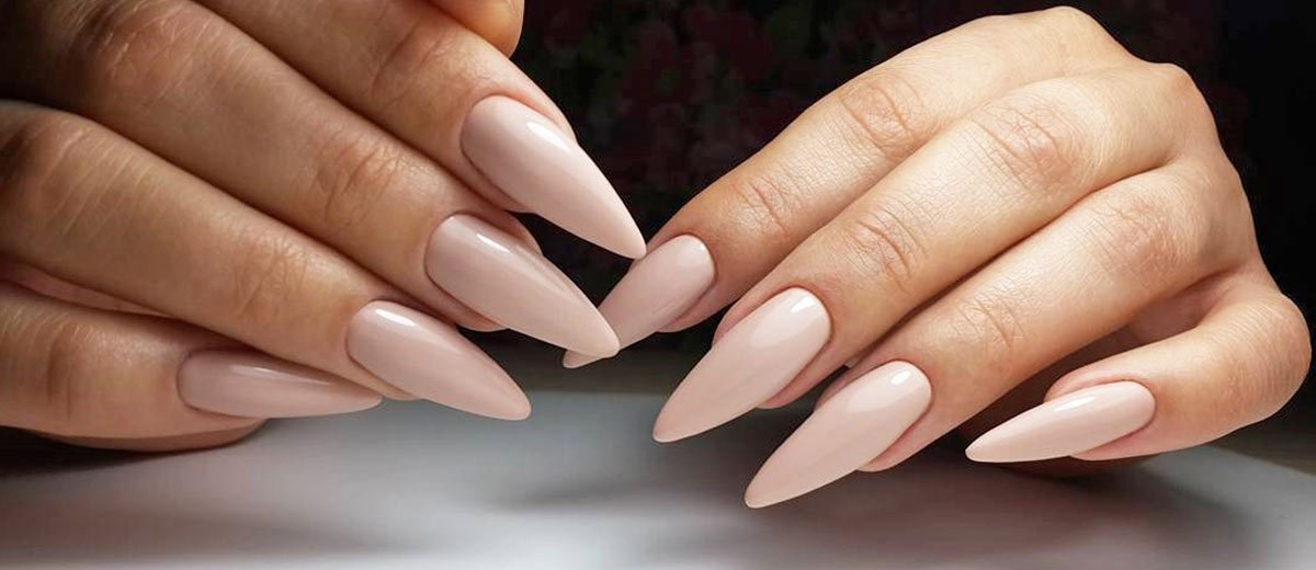 Stiletto Nails Milchrosa lang