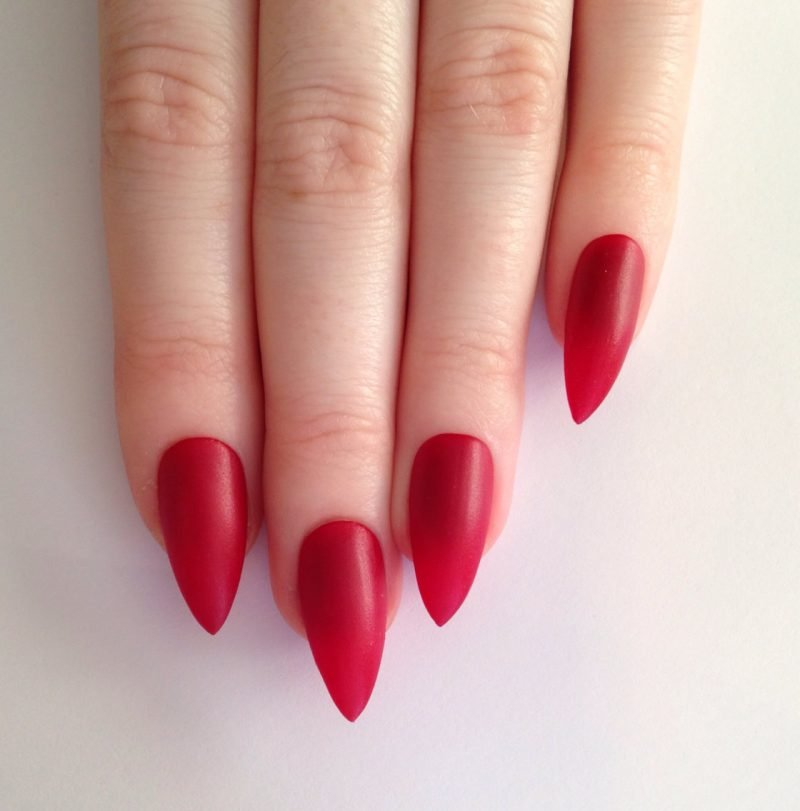 Stiletto Nails spitz Knallrot