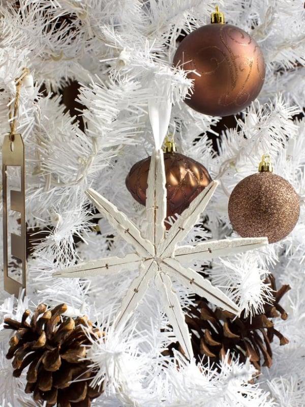 Schneeflocken basteln Christbaumschmuck