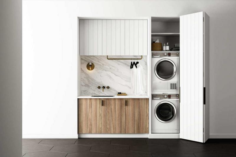 Schrank für Waschmaschine und Trockner Küche Waschbecken