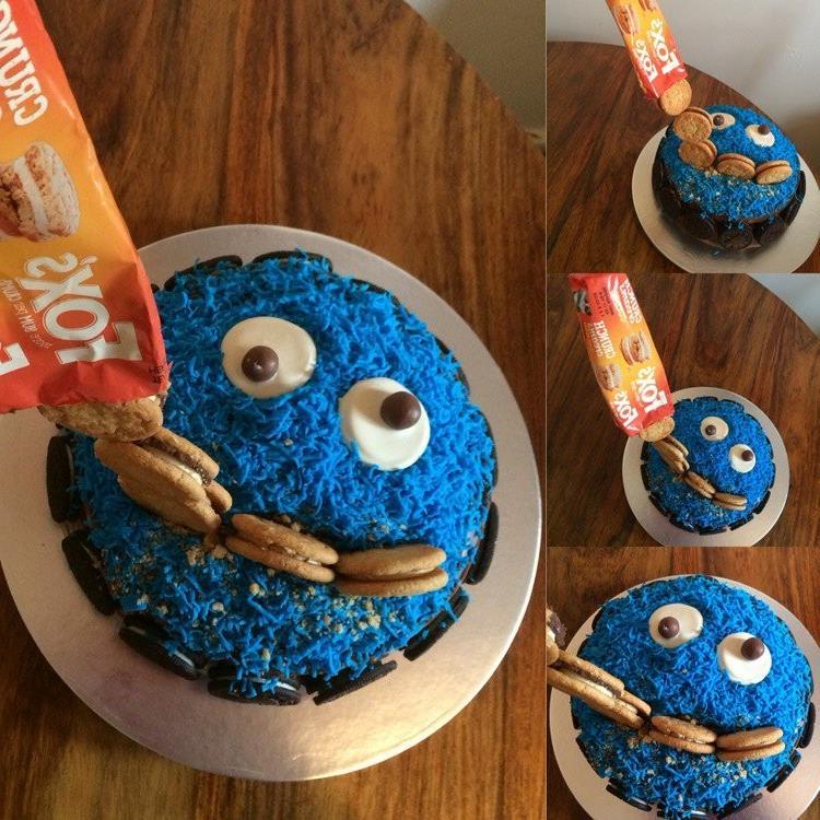 Gravity Cake Kekse Krümmelmonster