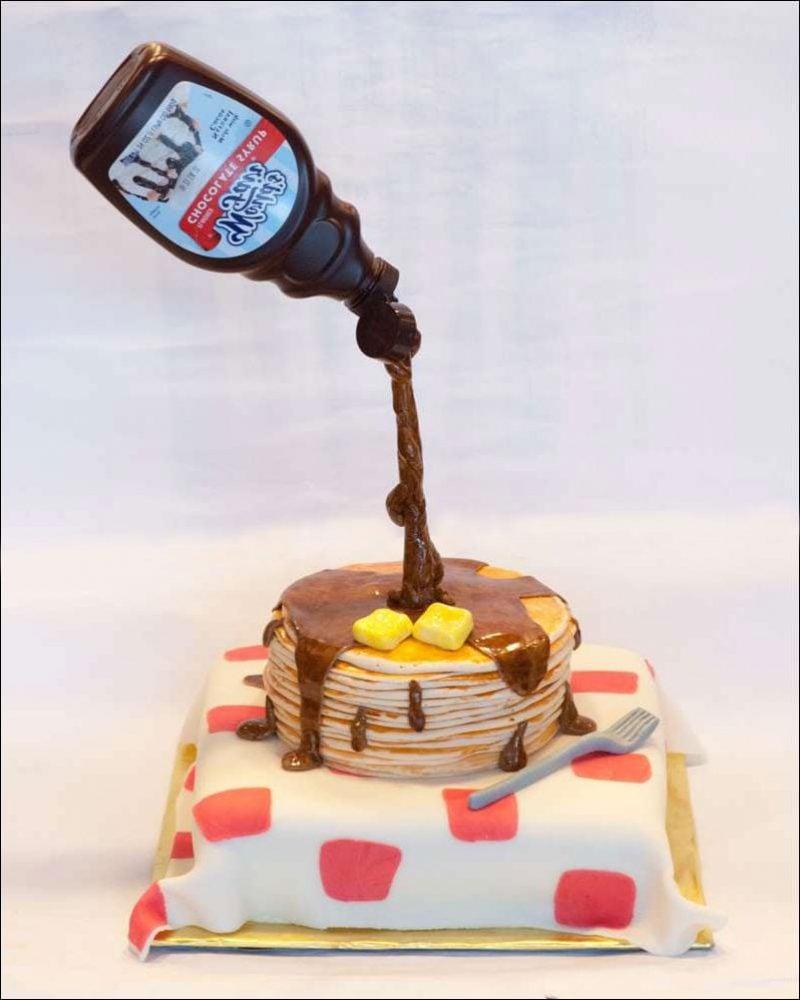 Gravity Cake Pfannkuchen