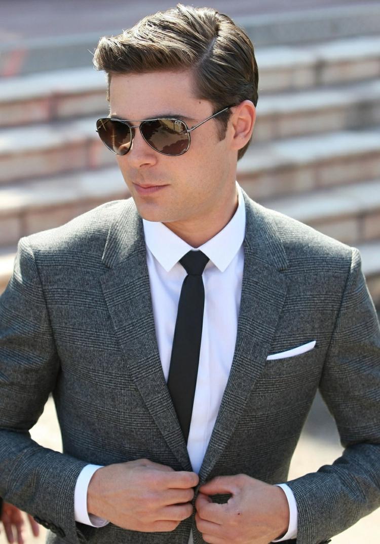 Seitenscheitel richtig stylen super elegant Gel Sonnenbrillen