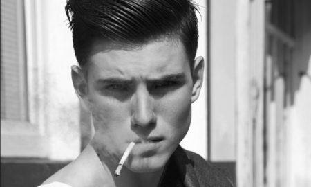 Seitenscheitel richtig stylen Mann Frisur Vintage Look