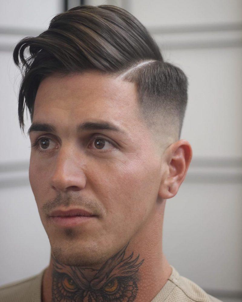Seitenscheitel richtig stylen Haare Messy Look