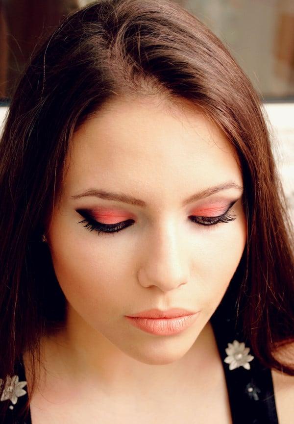 braune Augen schminken Smokey Effekt herrlicher Look