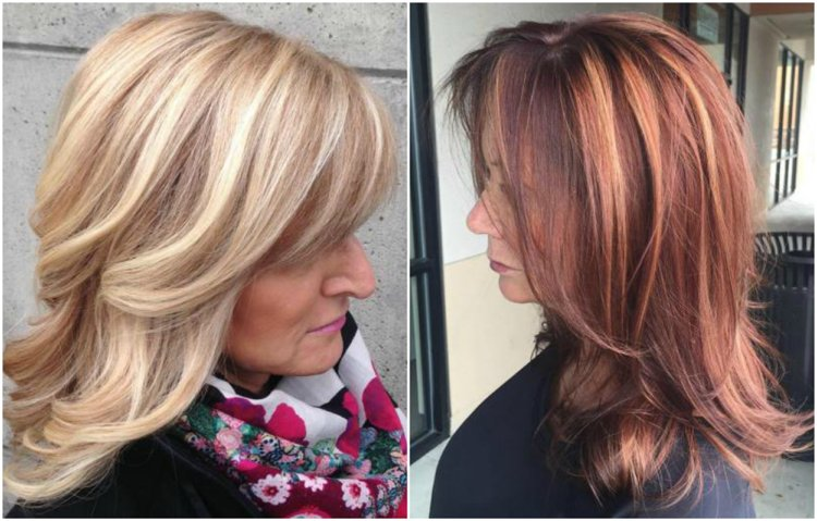 Frisuren 50 plus stufig Highlights