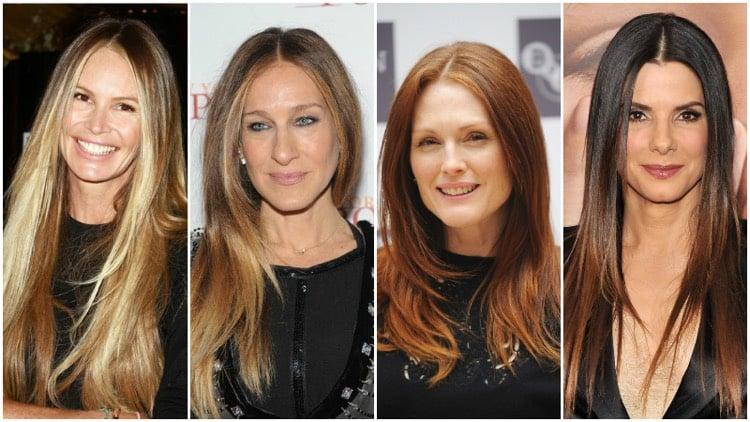 Frisuren 50 plus lange Haare Stufenschnitt