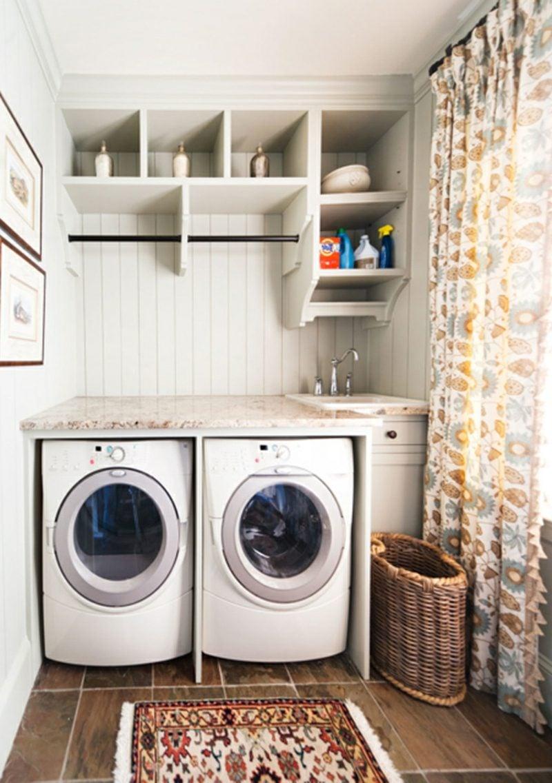 Schrank für Waschmaschine und Trockner nebeneinander kompakt Flur