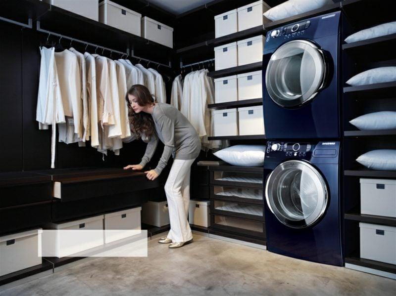 Schrank für Waschmaschine und Trockner modern Ankleidezimmer