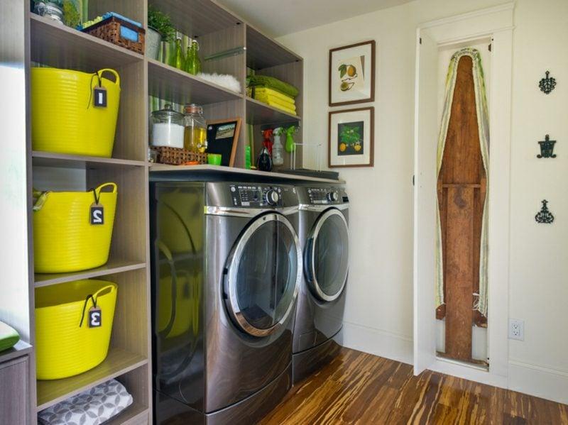 Schrank für Waschmaschine und Trockner Stauraum Regale