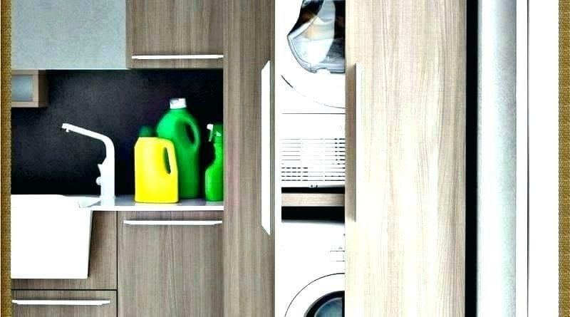 Schrank für Waschmaschine und Trockner die Geräte verstecken