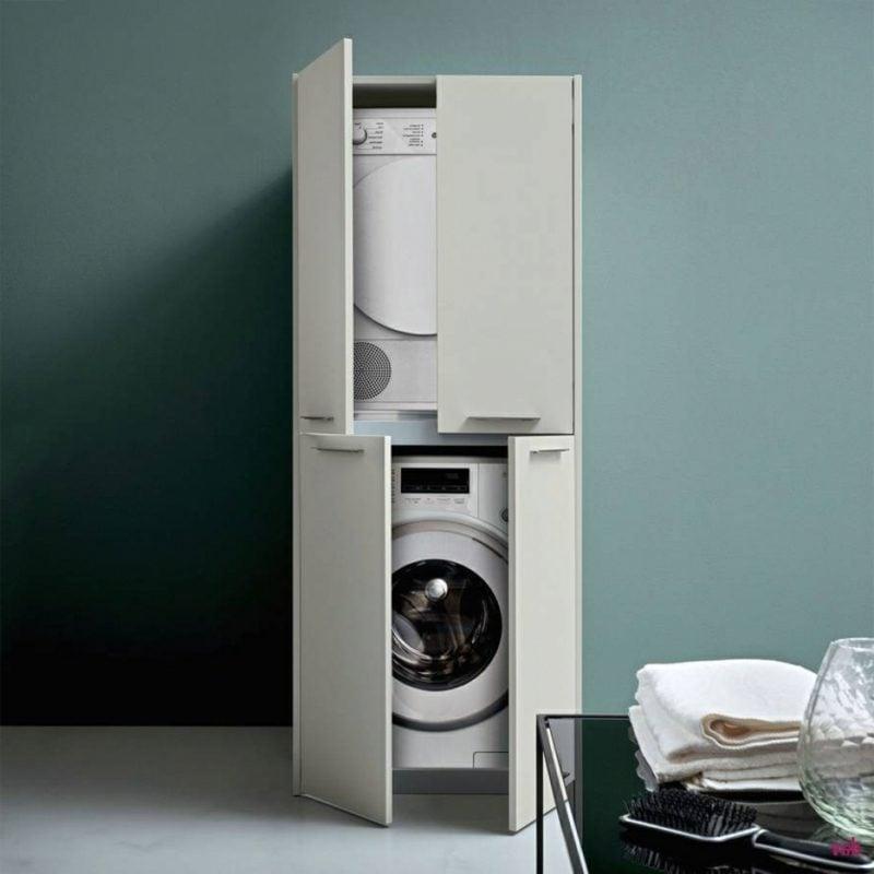 Schrank für Waschmaschine und Trockner freistehend praktisch