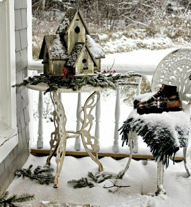 Weihnachtsdeko drauβen Terrasse Balkon