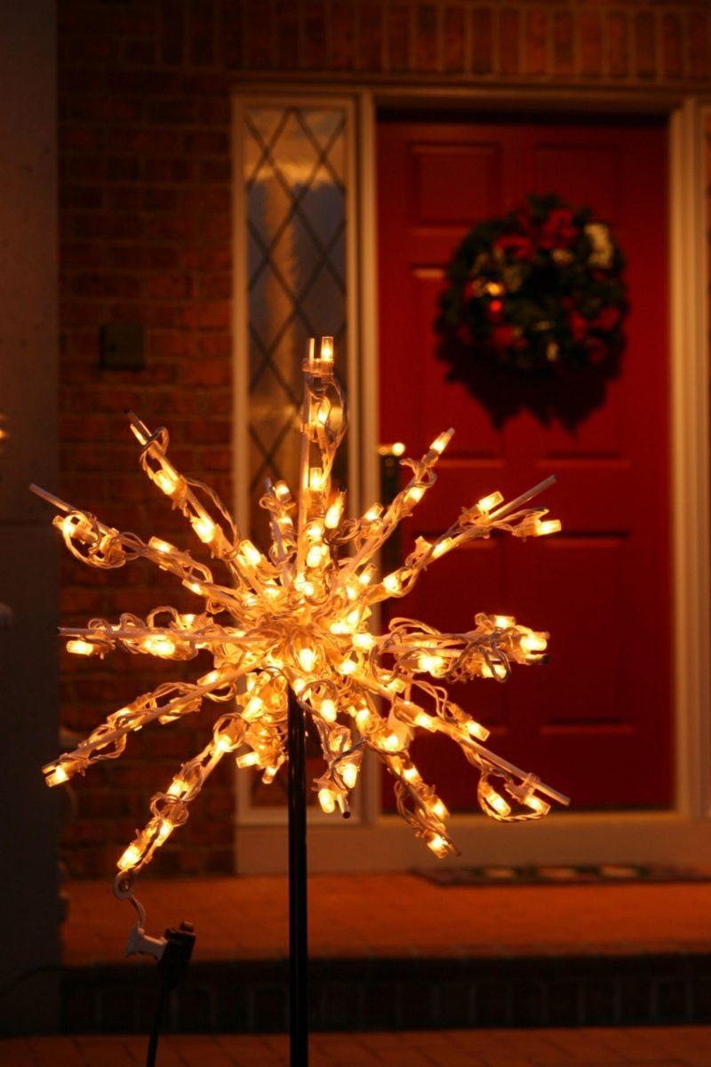 Weihnachtsdeko drauβen LED Schneeflocke
