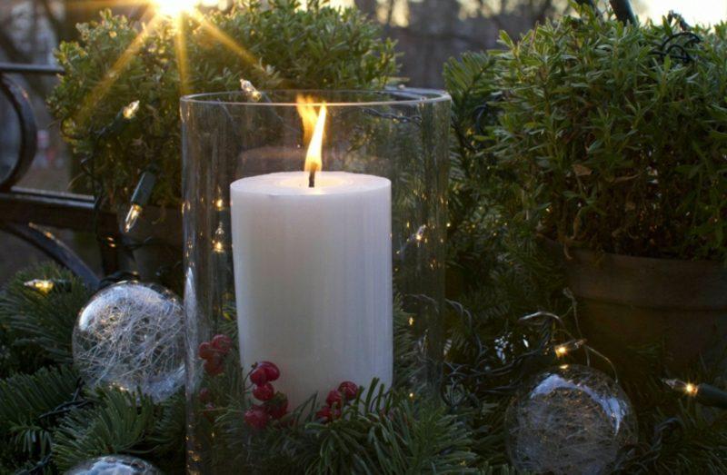 Weihnachtsdeko drauβen Windlichter basteln
