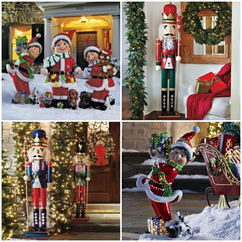 Weihnachtsdeko drauβen tolle Figuren Nussknacker Wichtel