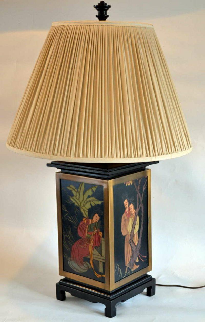 orientalische Lampen Tischlampe Zeichnungen originell
