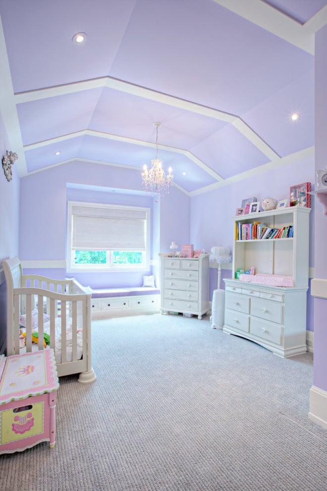 Babyzimmer Mädchen in Lila - Kinderzimmer komplett dekorieren