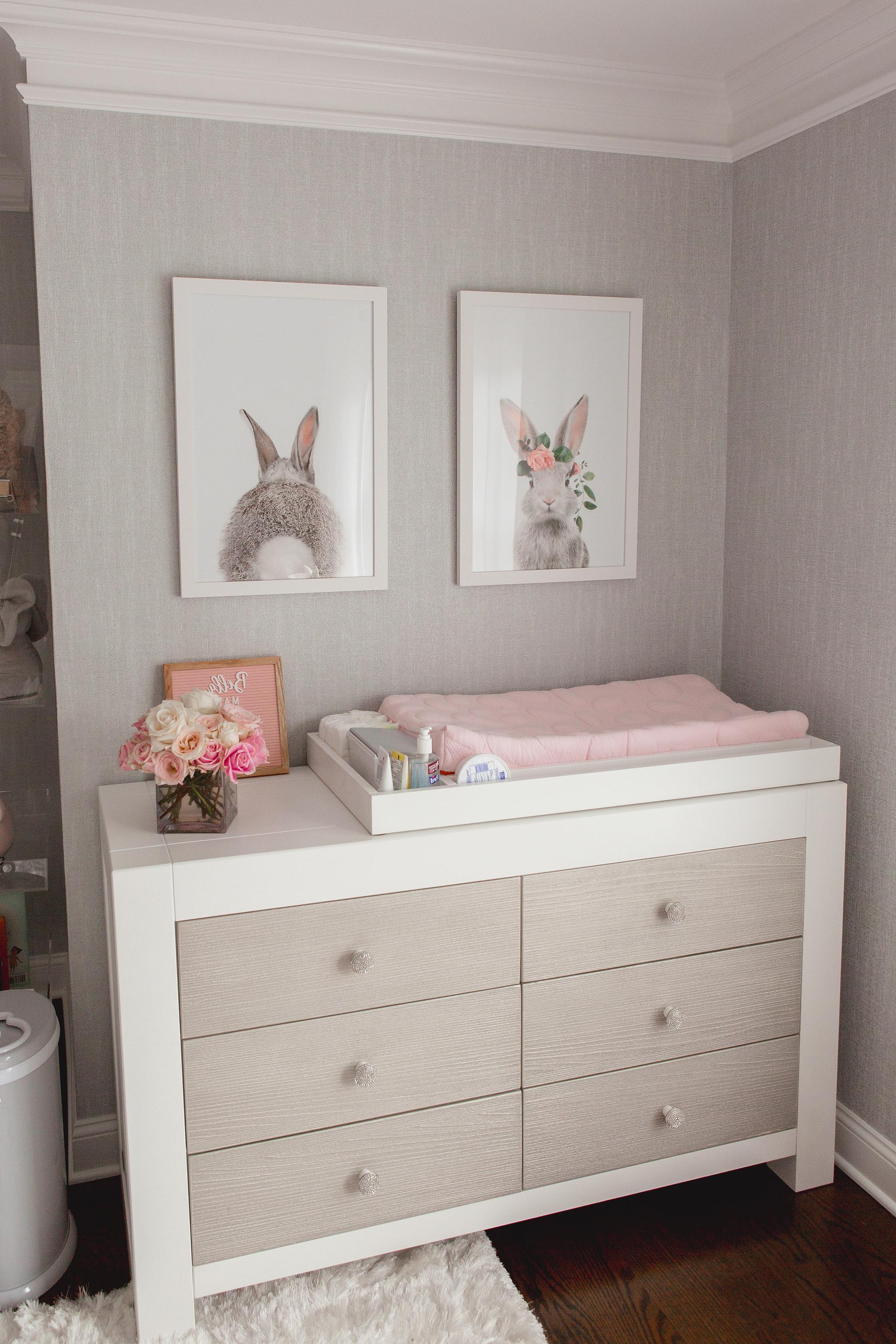 Babyzimmer Mädchen - Wickeltisch Deko