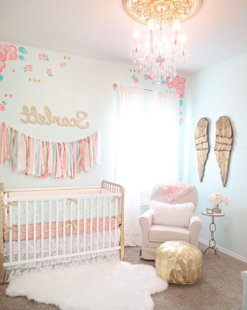 Babyzimmer komplett gestalten in Shabby Chic Stil