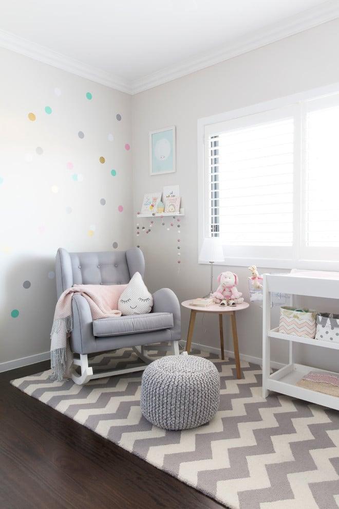 Babyzimmer Weiß und Pastellton: Babyzimmer Mädchen gestalten