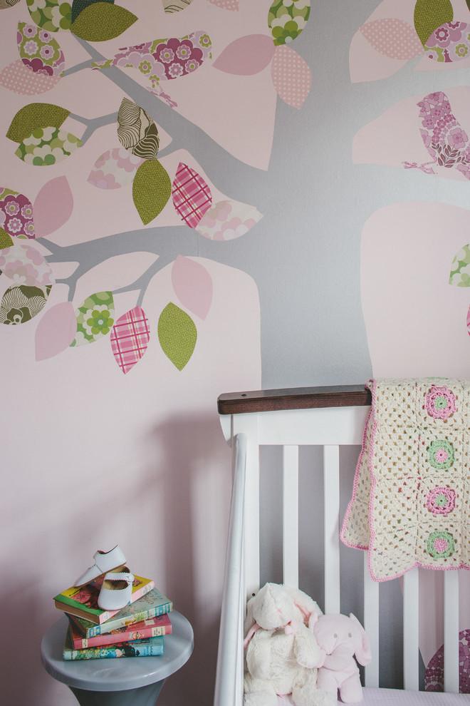 Babyzimmer Mädchen: Babyzimmer Wandgestaltung Ideen