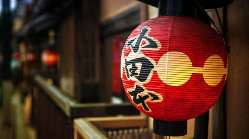 orientalische Lampen chinesische Laterne rot