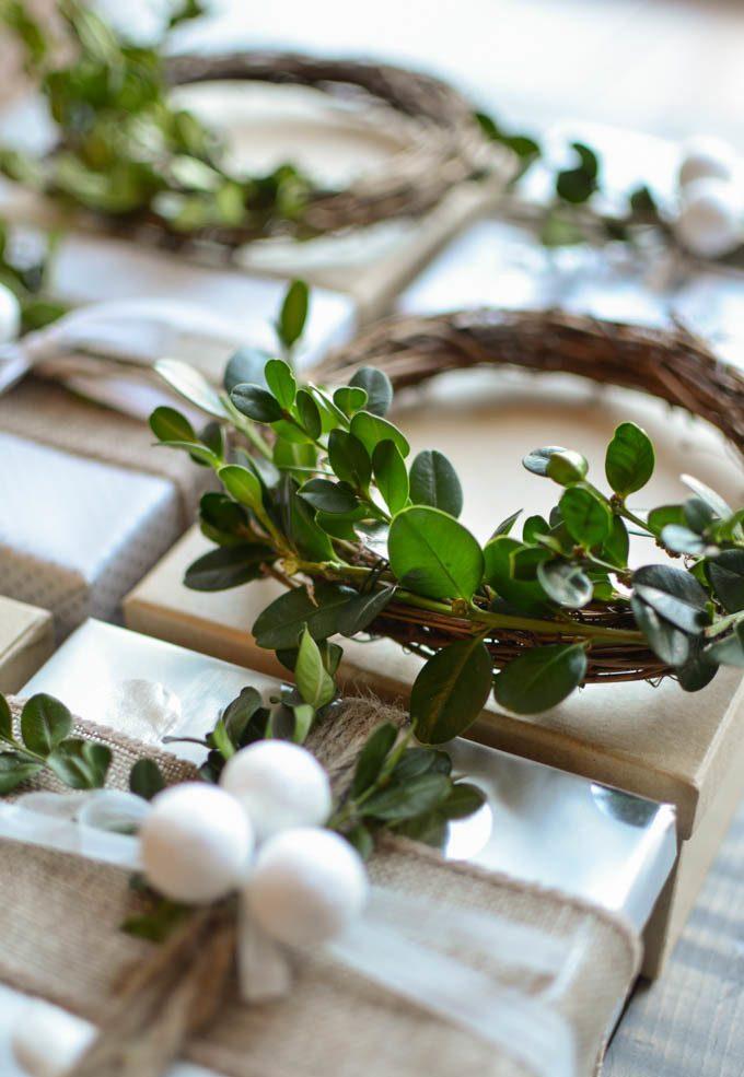 Tolle Ideen für Geschenke einpacken: Setzen Sie auf die natürlichen Materialien