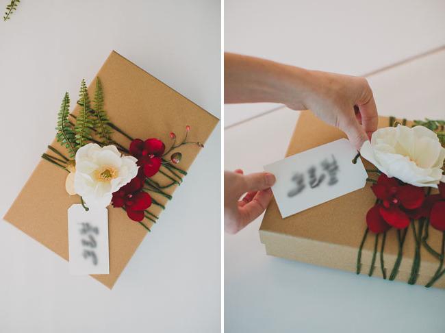 Mit Blumen die Geschenke richtig einpacken: Tipps