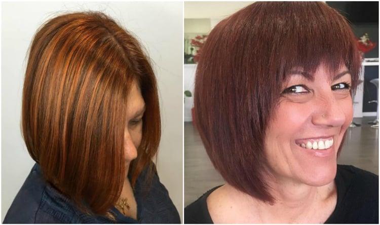 Frisuren 50 plus Haare mittellang glatt