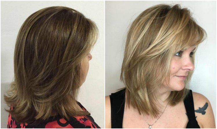 Frisuren 50 plus Styling Ideen mittellanges Haar