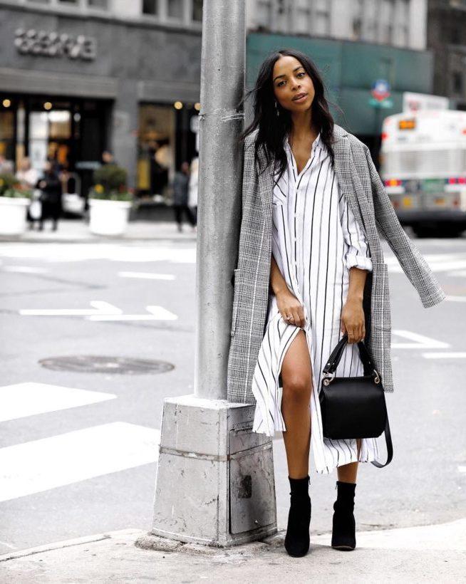 Herbst Outfit Trend 2018 - Kleid mit Boots kombinieren