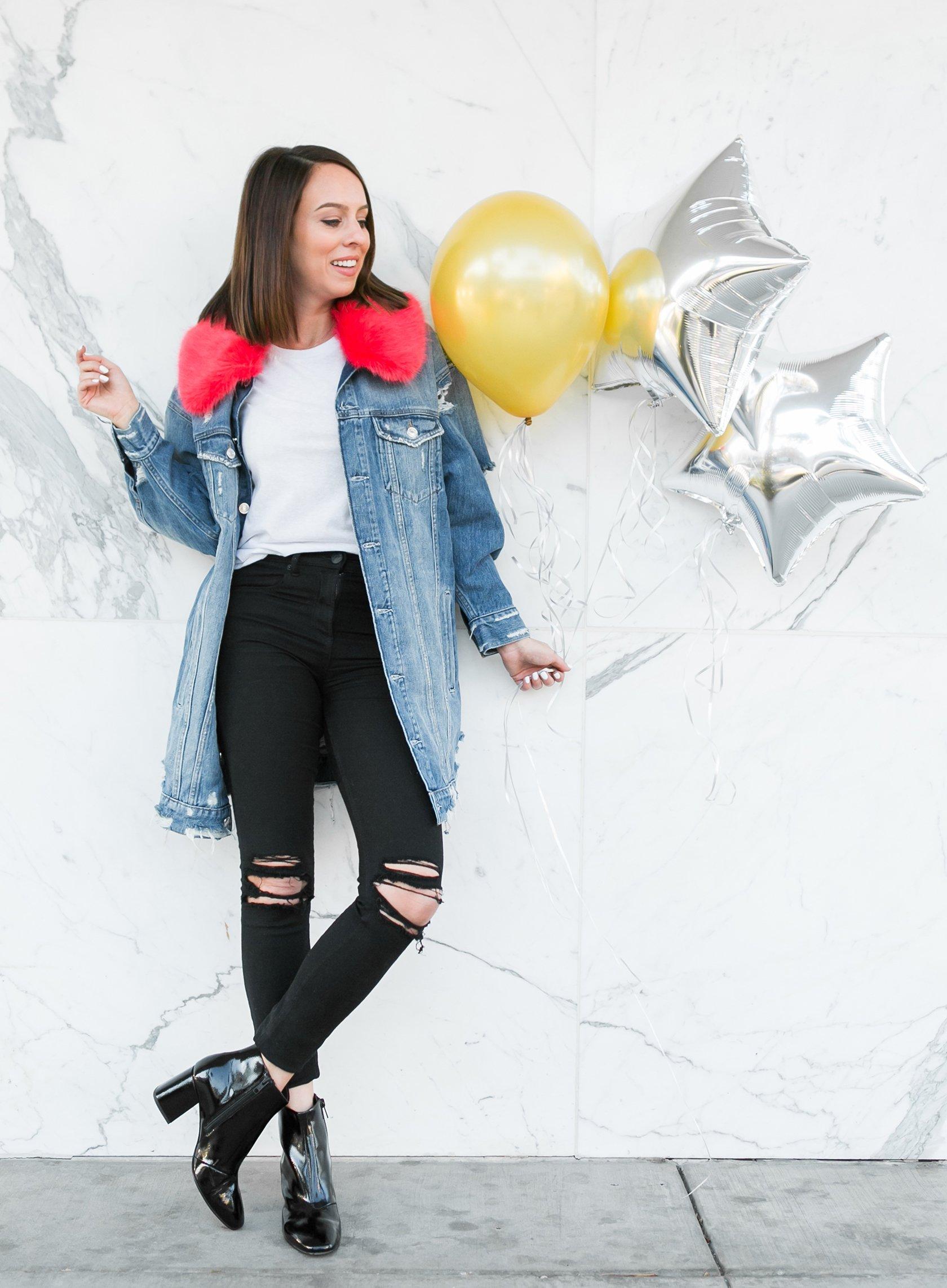 Stilvolle Herbst Outfits Damen mit Jeansjacke